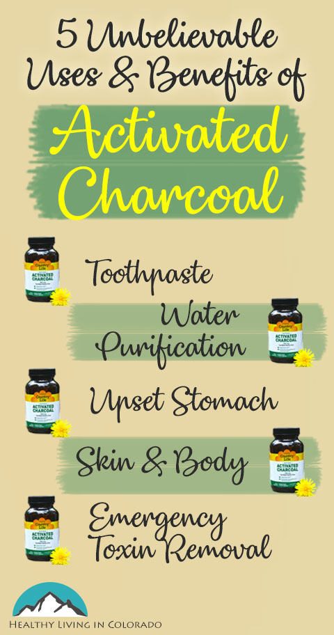 Five Benefits of Activated Charcoal Infographic