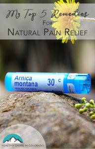 Natural Pain Relief - Healthy Living in Colorado