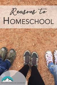 Reasons to Homeschool from Healthy Living in Colorado