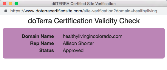 doterra certification validity check